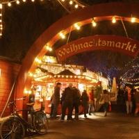 Eingang Weihnachtsmarkt im Stadtgarten